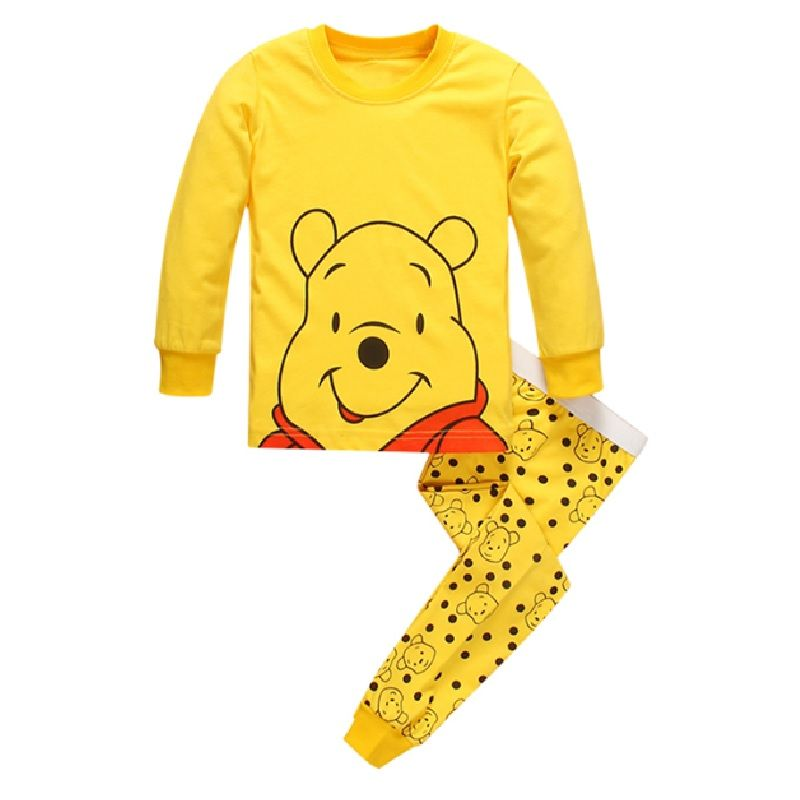 024ea26cdbb9 Click to Buy    2017 Boys Pajamas Winnie Girls Pyjamas Long Sleeve ...