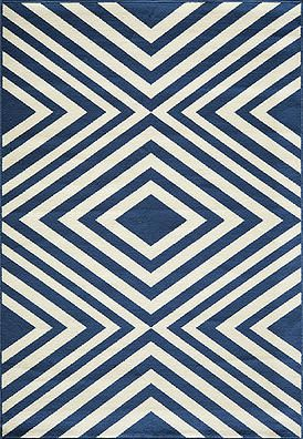 "Baja Diamond Indoor/Outdoor Rug (Blue) - 8'6"" x 13' : $622.00. Available online at www.TheLookInteriorsNH.com"