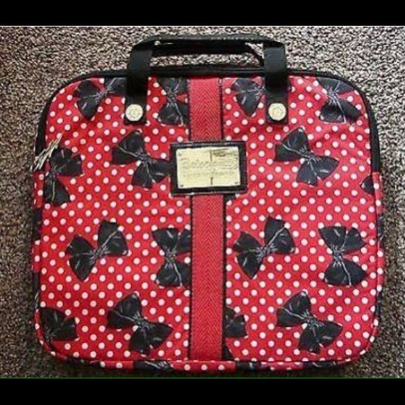 Betsey Johnson Laptop Case In Excellent Condition Looks Like Minnie Mouse To Me For The Disney Lover Accessories Cases