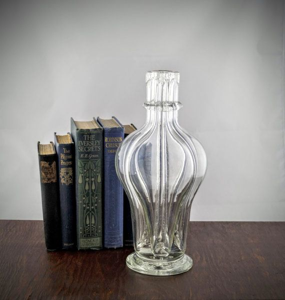 Vintage chambered glass decanter antique liquor by for Liquor bottle vases
