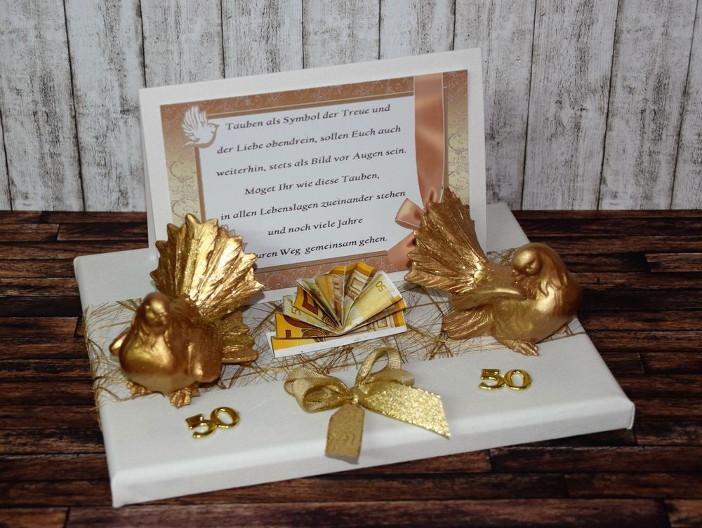 Goldene Hochzeit Geschenkideen Beautiful Geschenk Geldgeschenk Zur Goldenen Hochzeit Go In 2020 Geschenke Zur Goldenen Hochzeit Geschenke Geldgeschenk Goldene Hochzeit