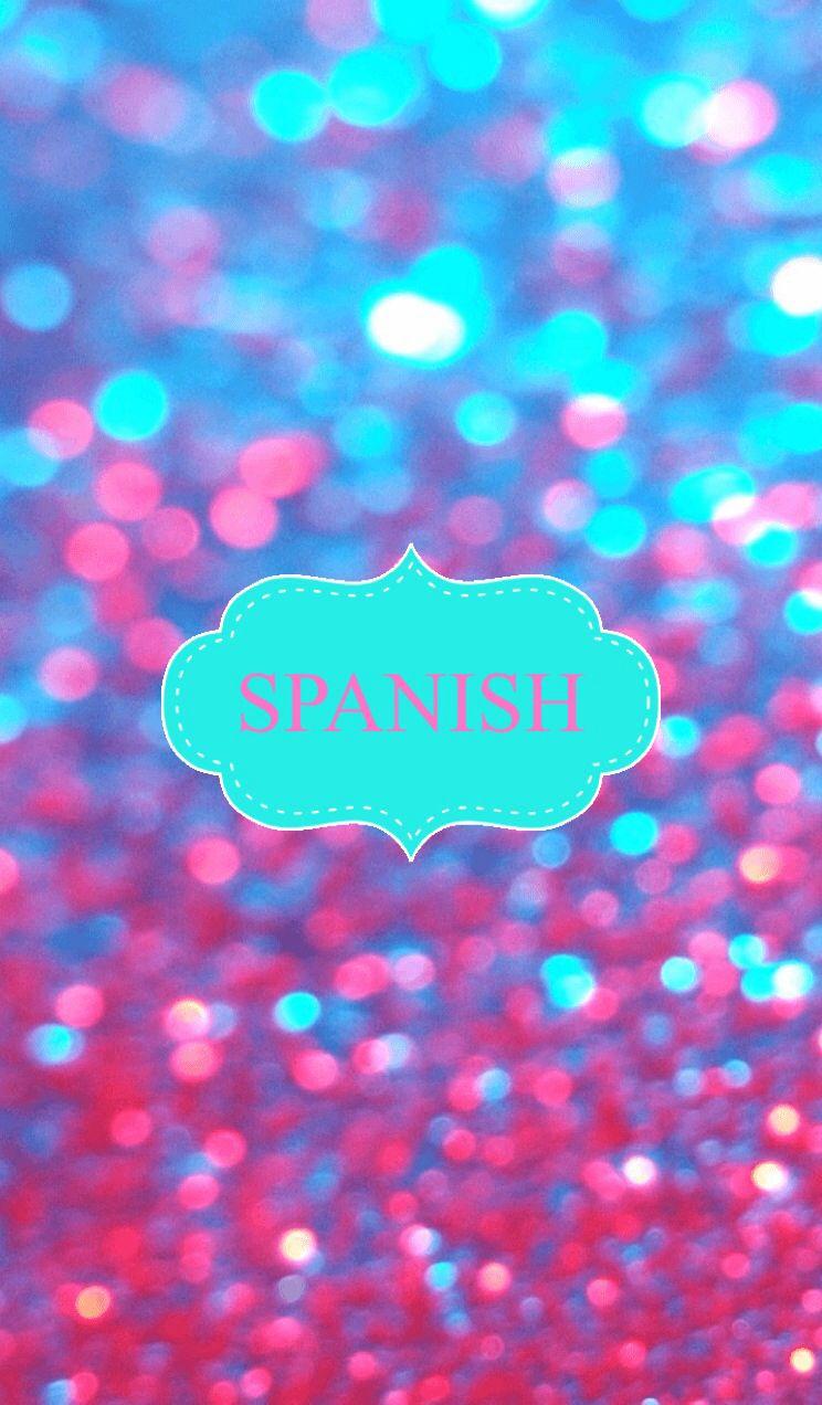 Glitter Spanish Binder Cover
