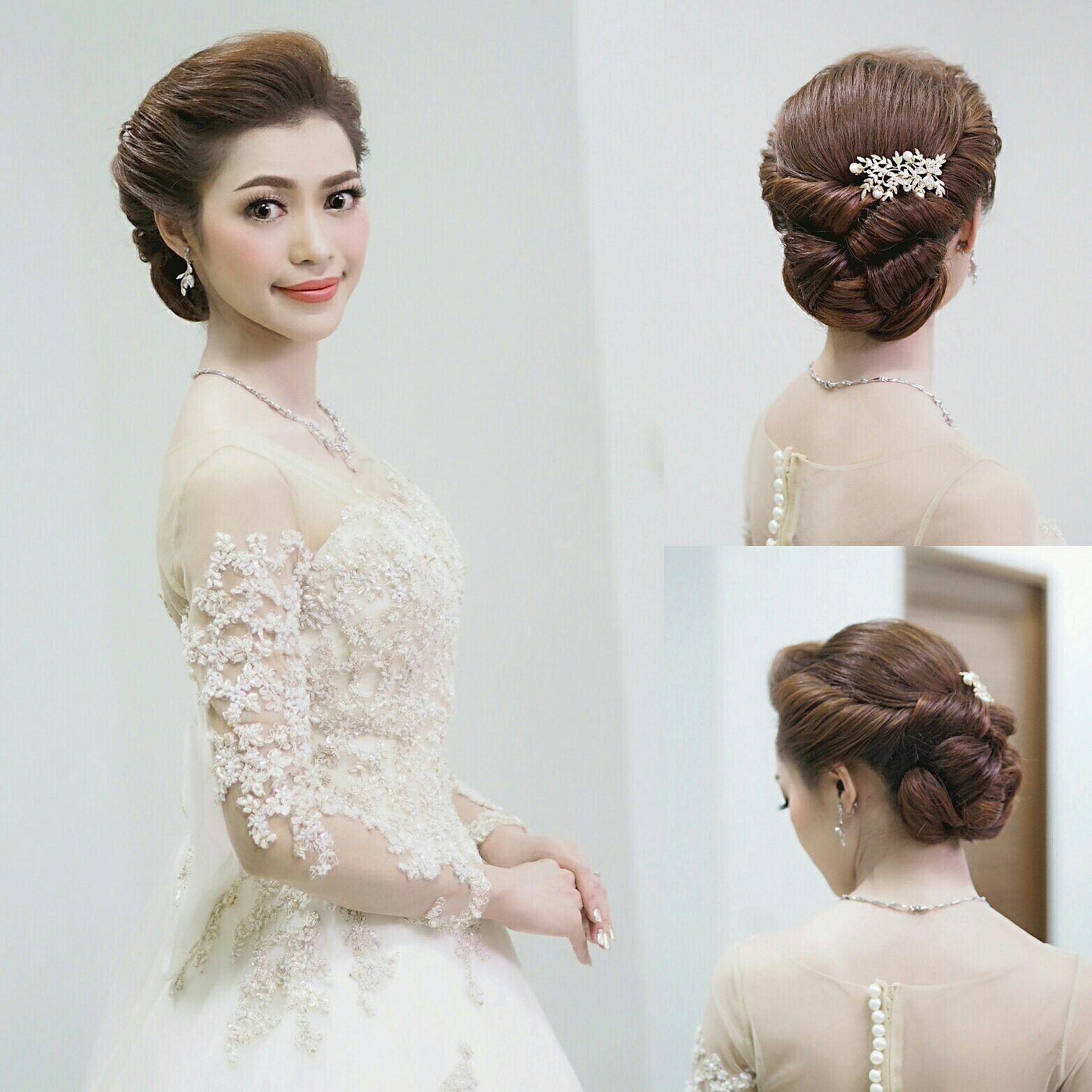 เกล้าผมเจ้าสาว #bridal line : mud2982405 tel. 0972982405 #hairstyle ...