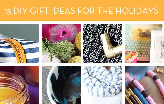 Roundup 15 DIY Gift Ideas for the Holidays Holidays, Gift and Craft