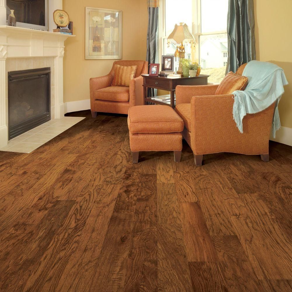 Home Legend Distressed Kinsley Hickory 3 8 In Thick X 5 In Wide X 47 1 4 In Length Click Lock Hardwo Engineered Hardwood Flooring Solid Hardwood Floors Home