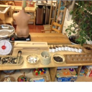 Math: natural materials for counting, sorting, weighing, etc.