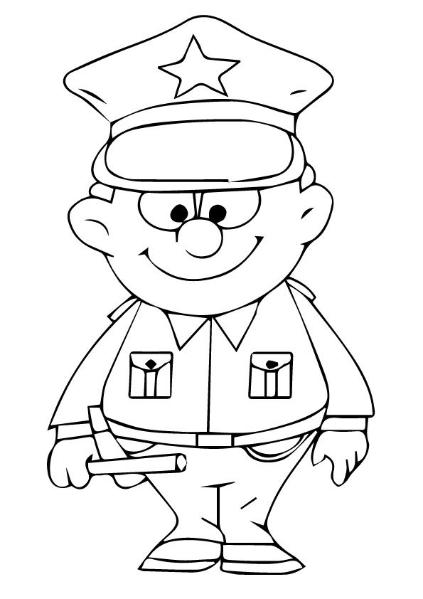 Policeman Coloring Pages Preschool Cars Coloring Pages Police Crafts Coloring For Kids