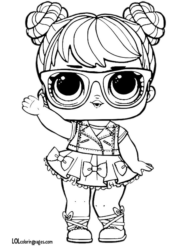 Pin By Jukaka On Coloring Pages Lol Dolls Coloring Rocks