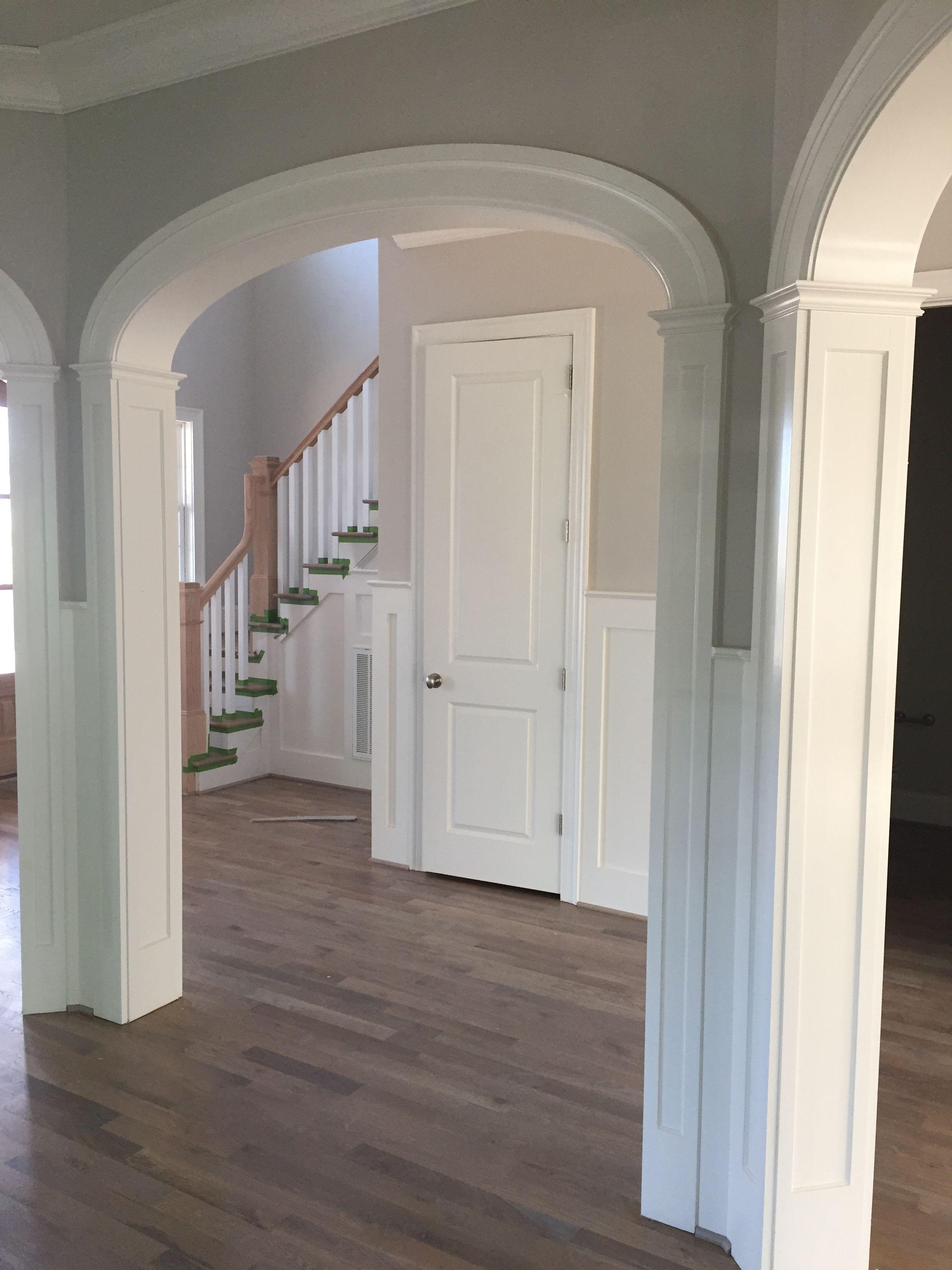 Panel Columns Underneath An Elliptical Arch Doorway Archway Molding Arch Doorway Moldings And Trim
