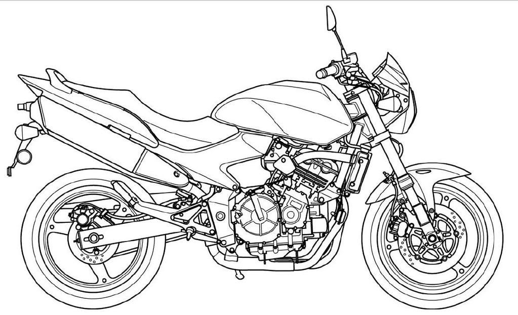 Printable Motorcycle Coloring Pages For Kids