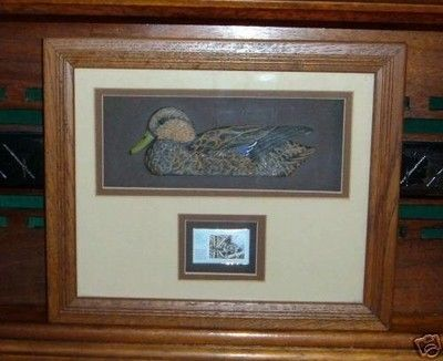 Ducks Unlimited- Framed Mallard carving,wildlife stamp (07/12/2007)