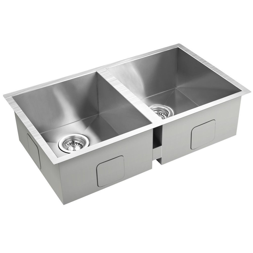 Kitchen Laundry Sink Stainless Steel Drop In Flush Under Mount