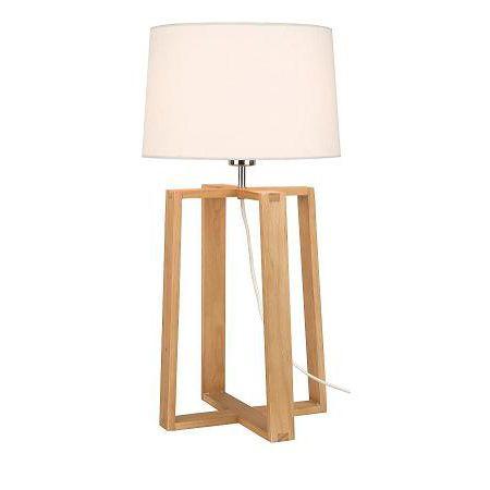 Lampe A Poser Mendel En Bois Castorama Avec Images Lampe Decoration Lamp Lampe A Poser