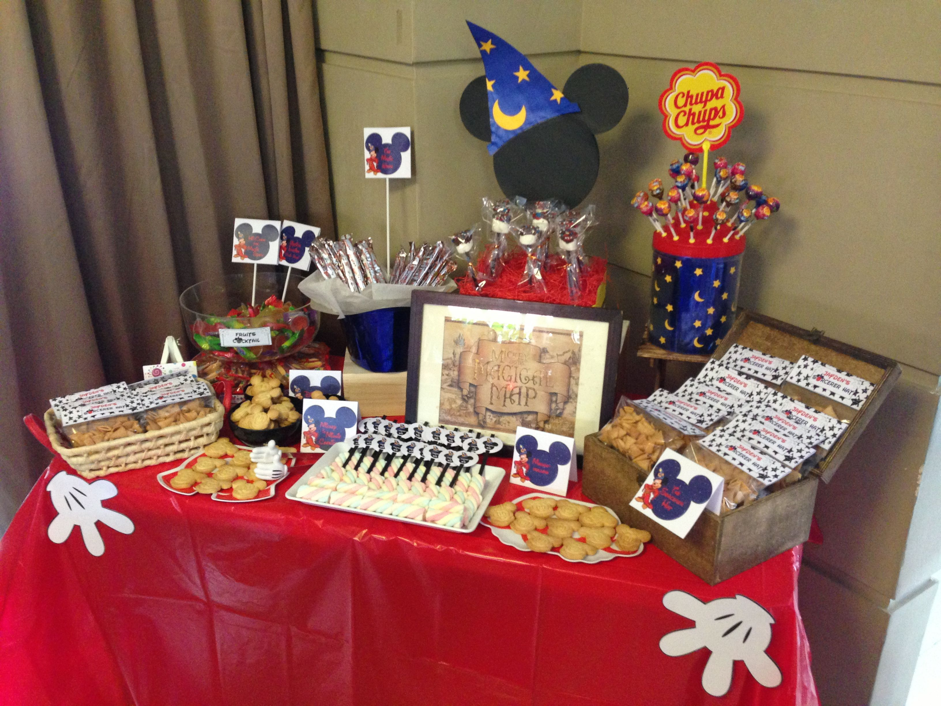 sorcerer mickey candy table