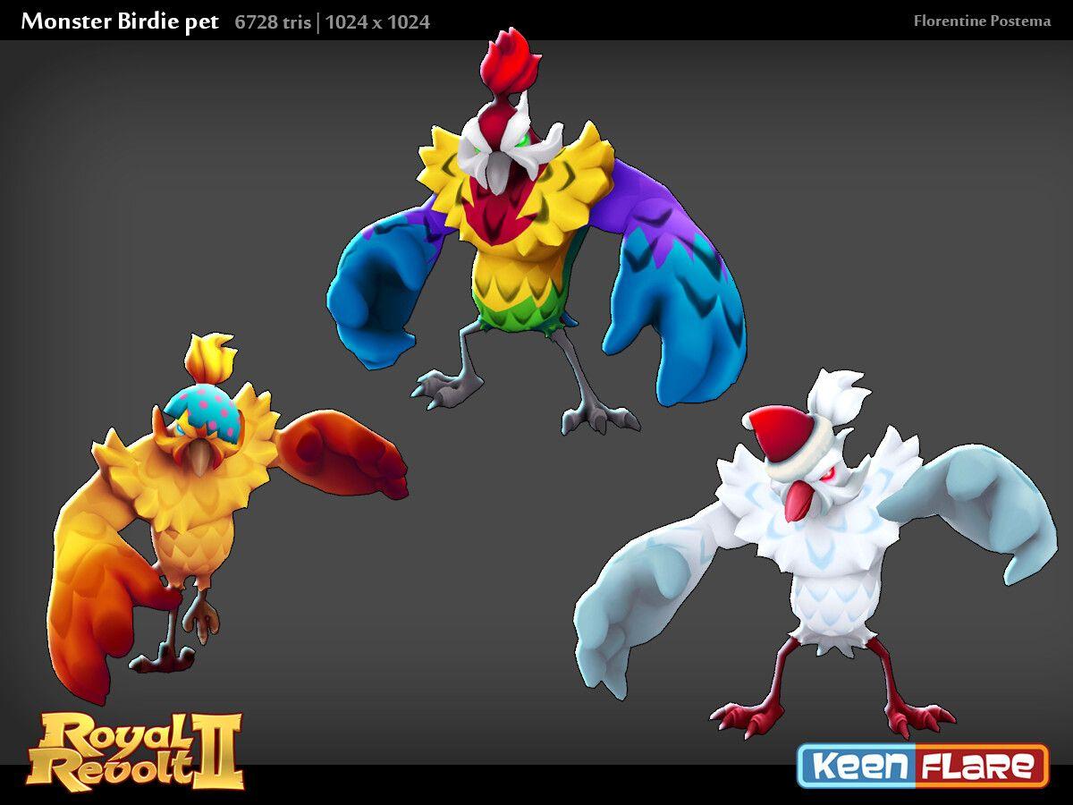 Artstation Royal Revolt 2 Character Monster Birdie Pal Florentine Postema Revolt 2 Pals Character