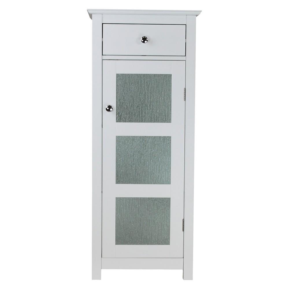 Connor 1 Door Floor Cabinet White Elegant Home Fashions Bathroom Furniture Storage Bathroom Storage Solutions Bathroom Floor Cabinets