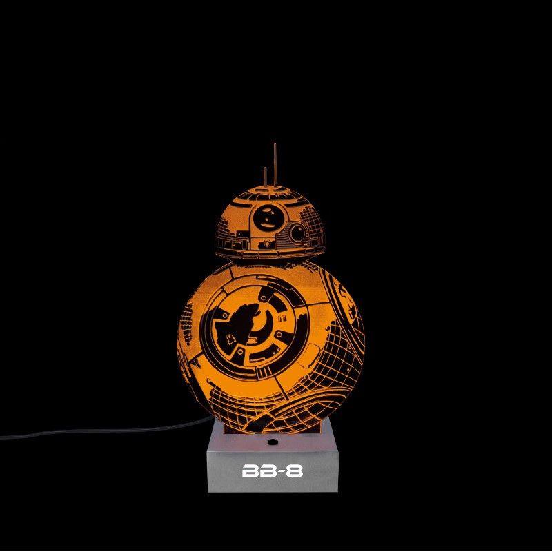 star wars bb 8 lampe aus acrylglas