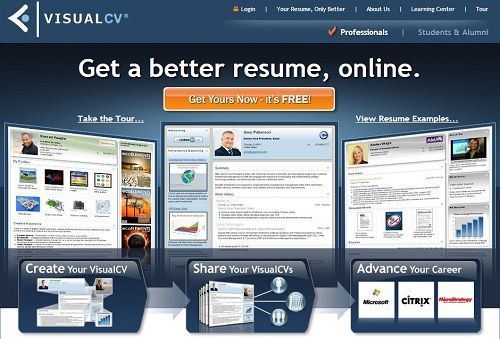 VisualCV Social Media Marketing Pinterest Online resume - online resume creator