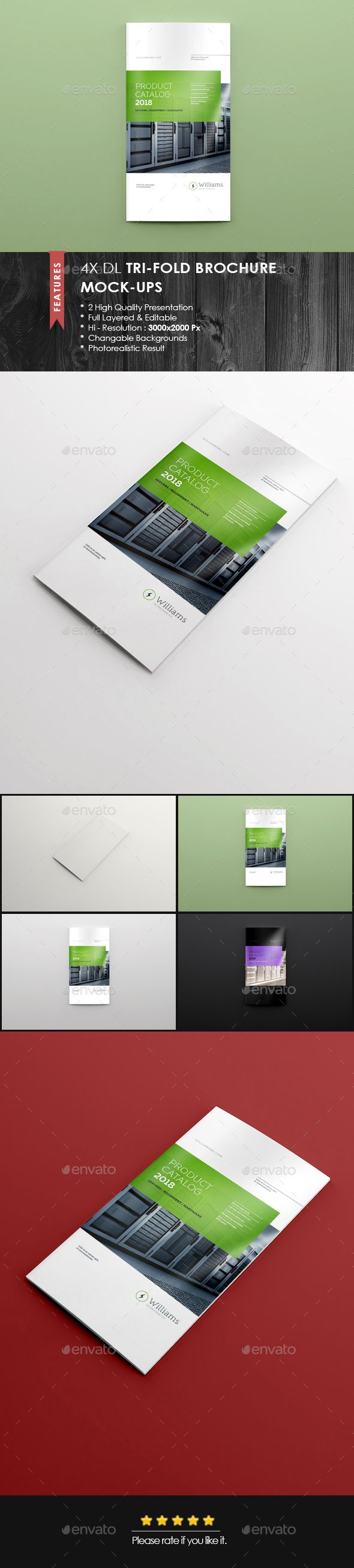 Xdl Double Gate Fold Brochure MockUp  Brochures Mockup And