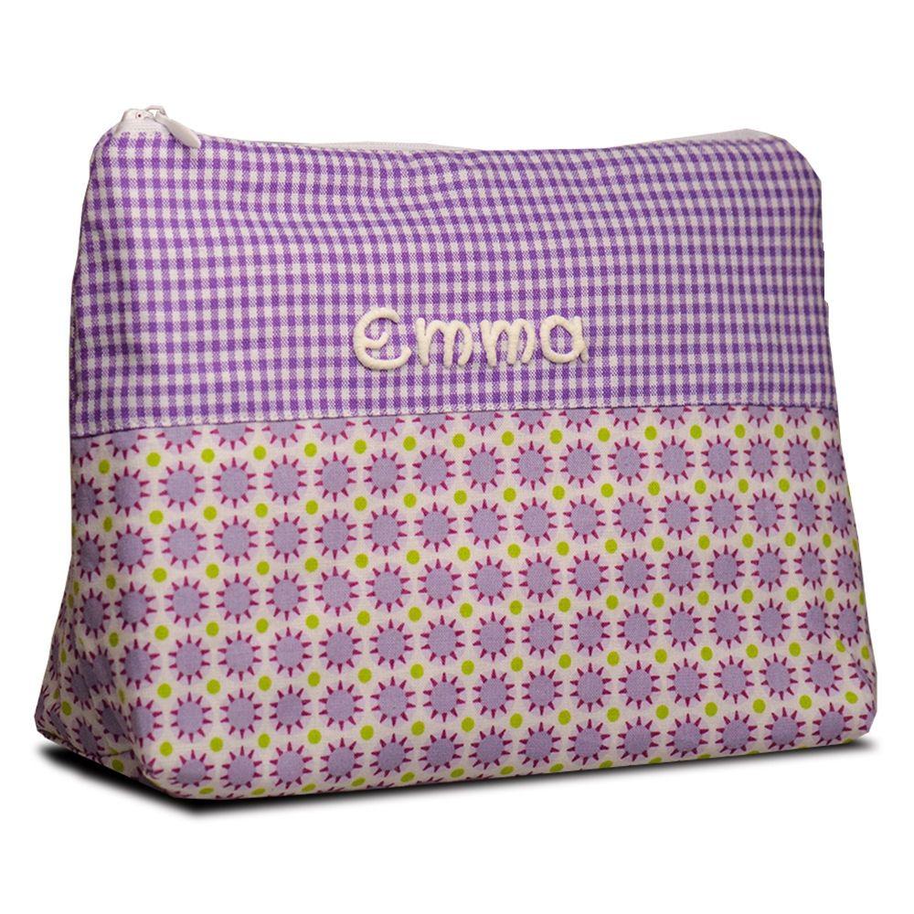 Kleiner Kulturbeutel mit Namen Sterne Kinder Waschtasche Kulturtasche Beauty Bag