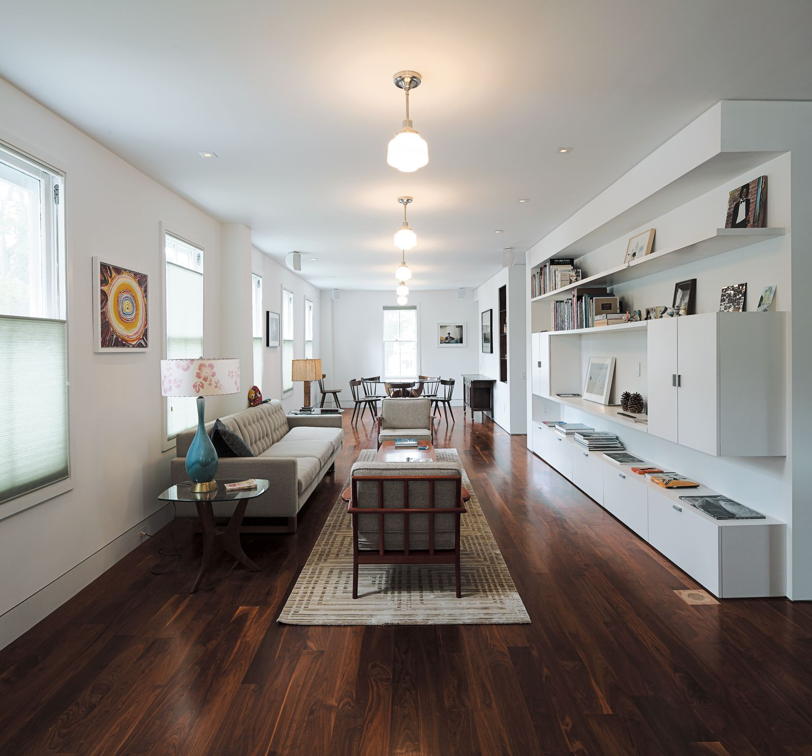 Ninety Degrees Apartments: The Living-dining Room Occupies What Was Formerly A