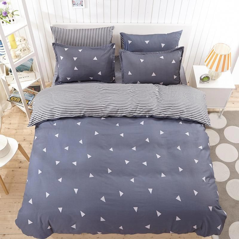 Solstice Home Bedding Sets White Star Clouds Plaid Twin Full Queen Kingsize Duvet Cover Sheet Pillowcase Bed Lin Best Bed Sheets Best Bedding Sets Bedding Sets