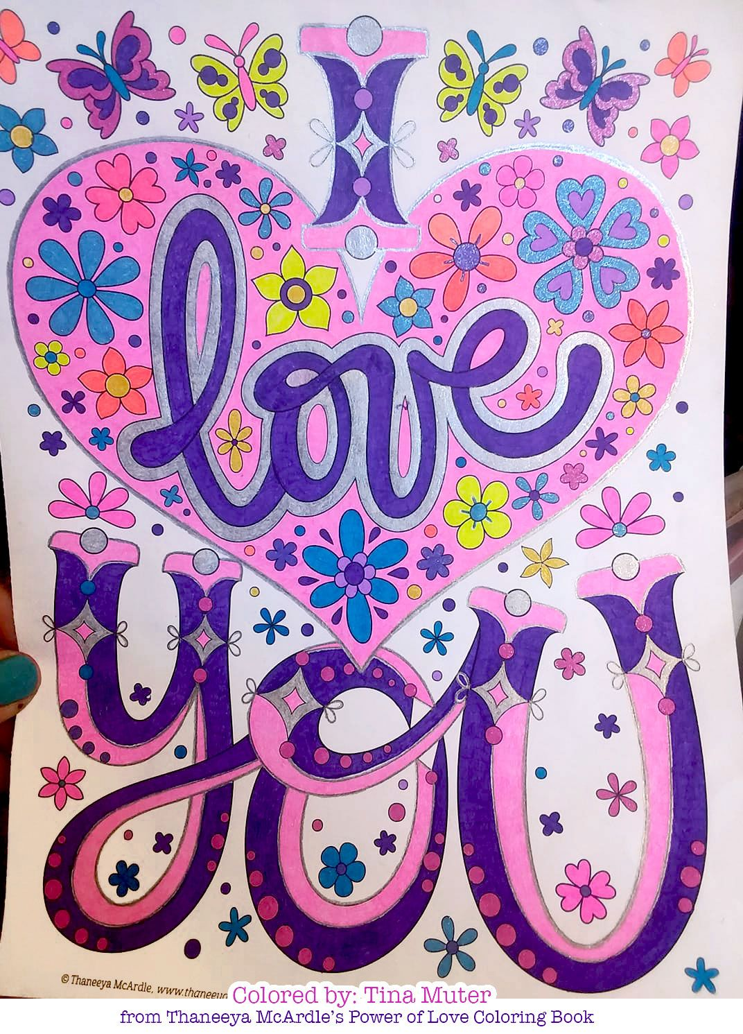 I Love You Coloring Page From Thaneeya Mcardle S Power Of Love