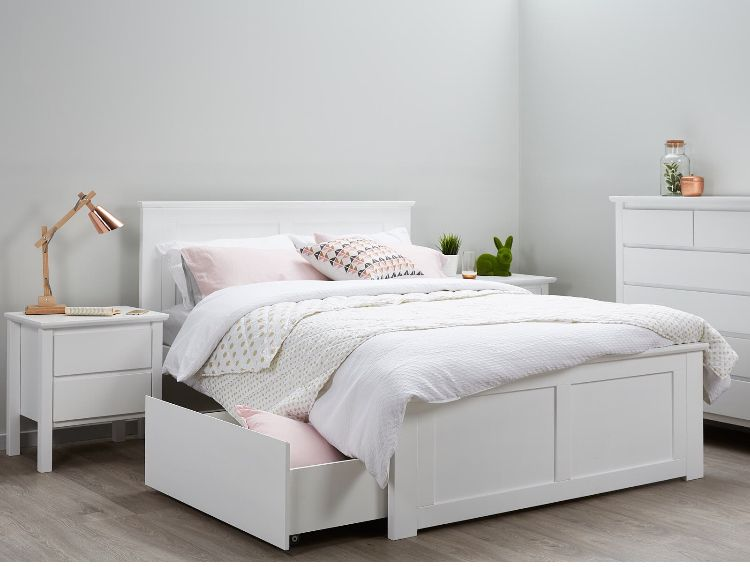 Pin By April Gardner On Extra Storage White Bed Frame Bedroom Furniture Sets Childrens Bedroom Furniture