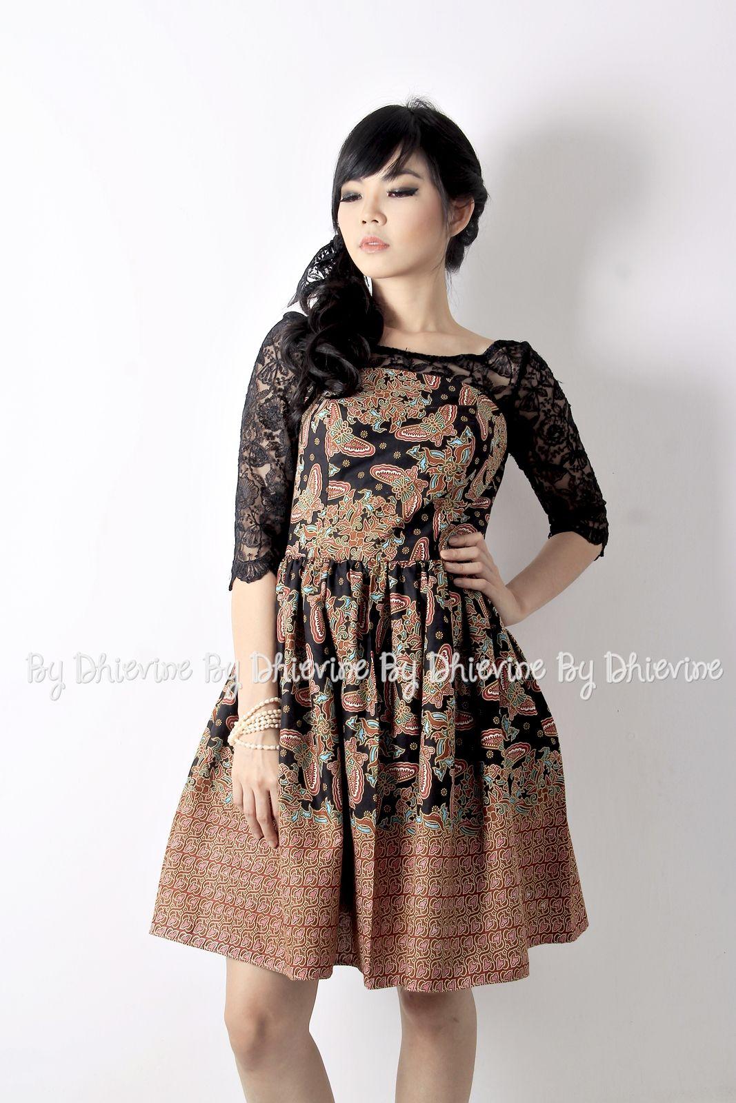 Modern dress casual - Batik Dress Kebaya Dress Pendapa Batik Black Dress Dhievine Redefine You
