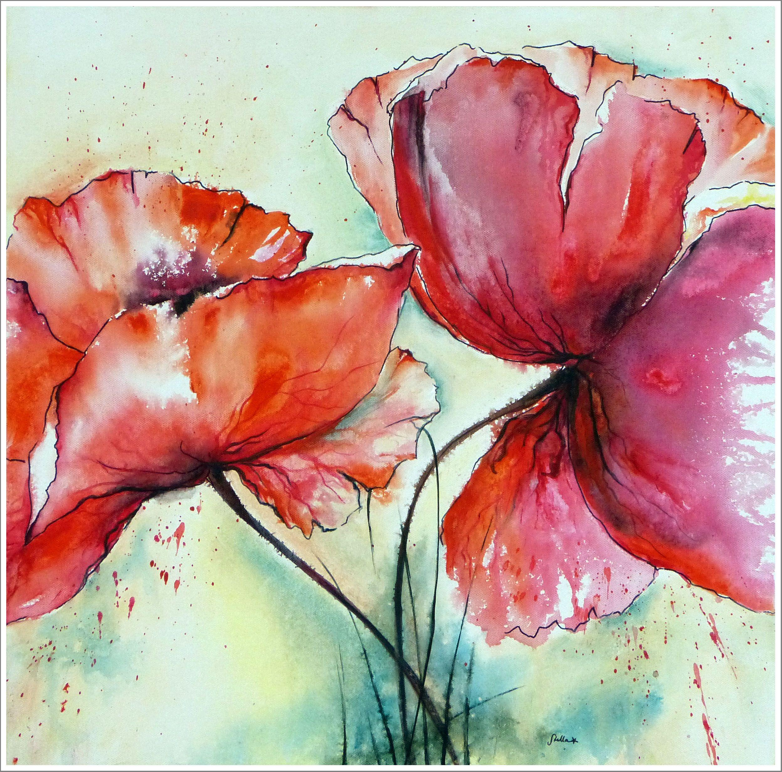 stella hettner bild original kunst gemalde modern malerei abstrakt xl acryl neu blumen blueten flowers abstrakte gemälde gerhard richter bilder