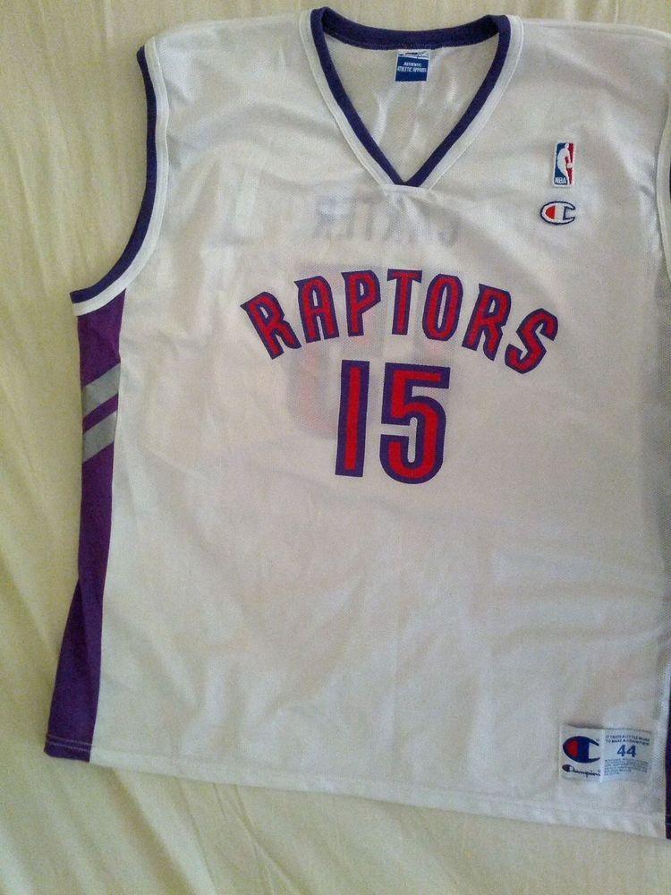 Vince Carter Toronto Raptors Vintage Champion Jersey Sz 48