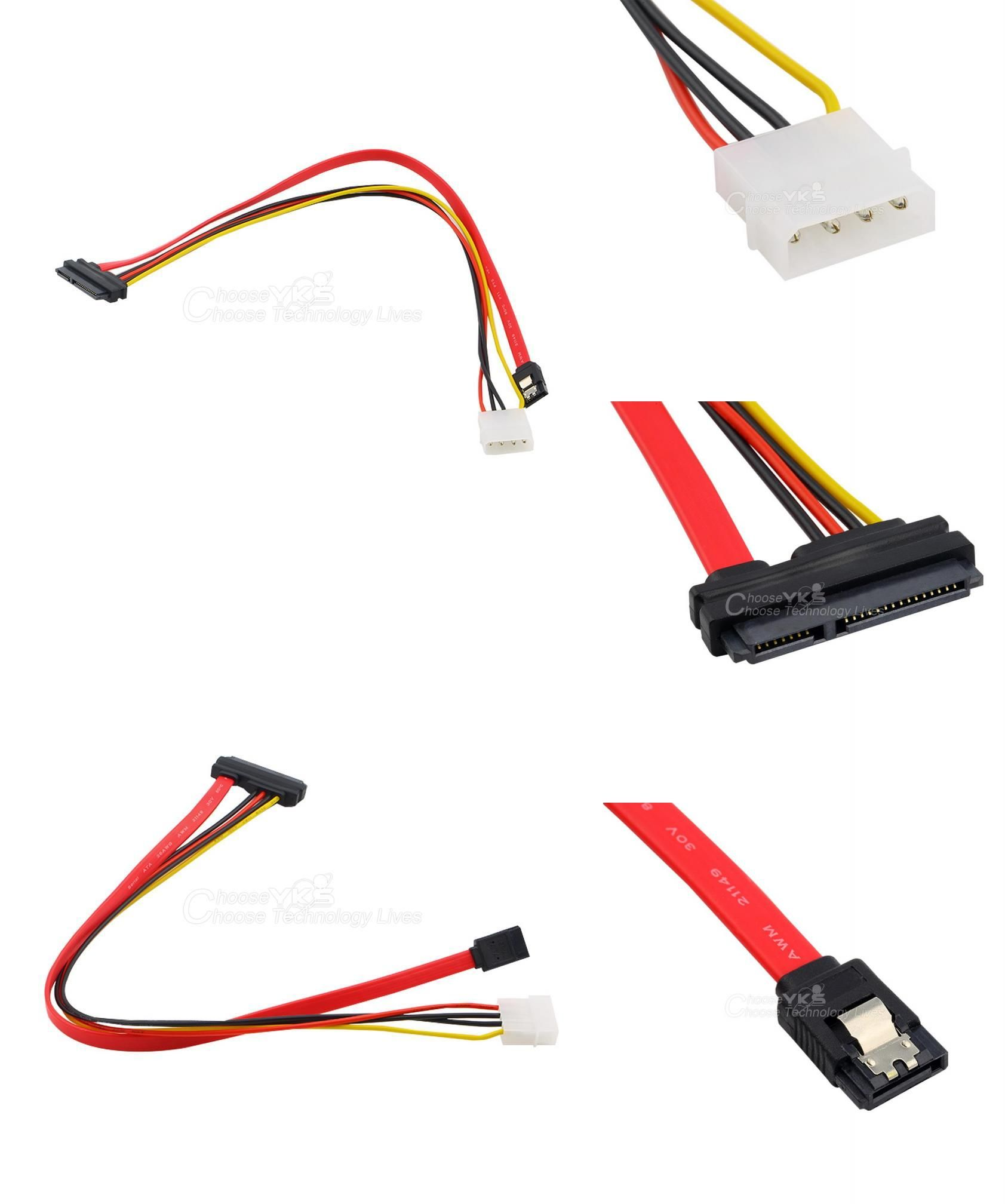 Visit To Buy New 40cm 15 7 Pin Power Data To 4 Pin Ide Power Sata Data Hard Cable Advertisement Vehicle Jumper Cables Stuff To Buy Jumper Cables