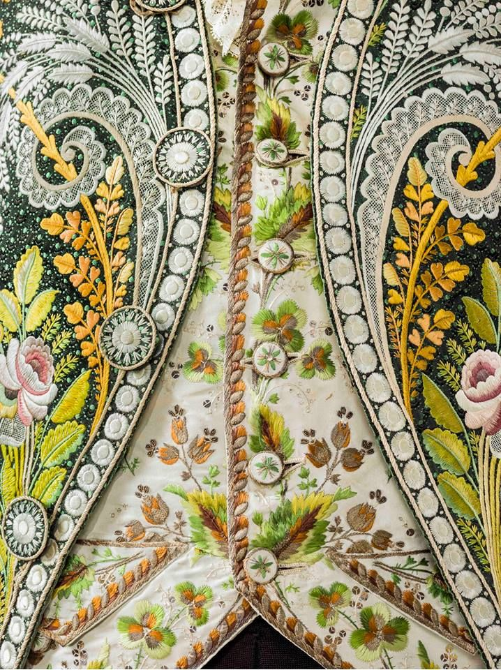Coat and vest detail, France, c. 18th LACMA