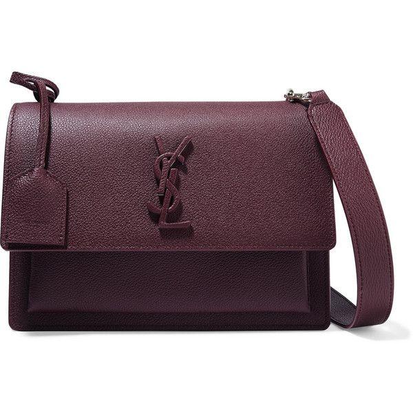 Sunset Medium Leather Shoulder Bag - Burgundy Saint Laurent A983PpjEyX
