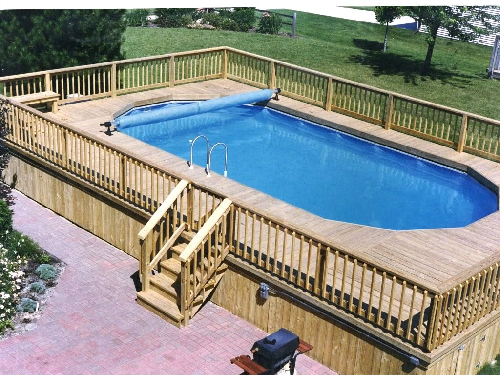 Pros Of Above Ground Pool Deck Plans Backyard Pool Best Above