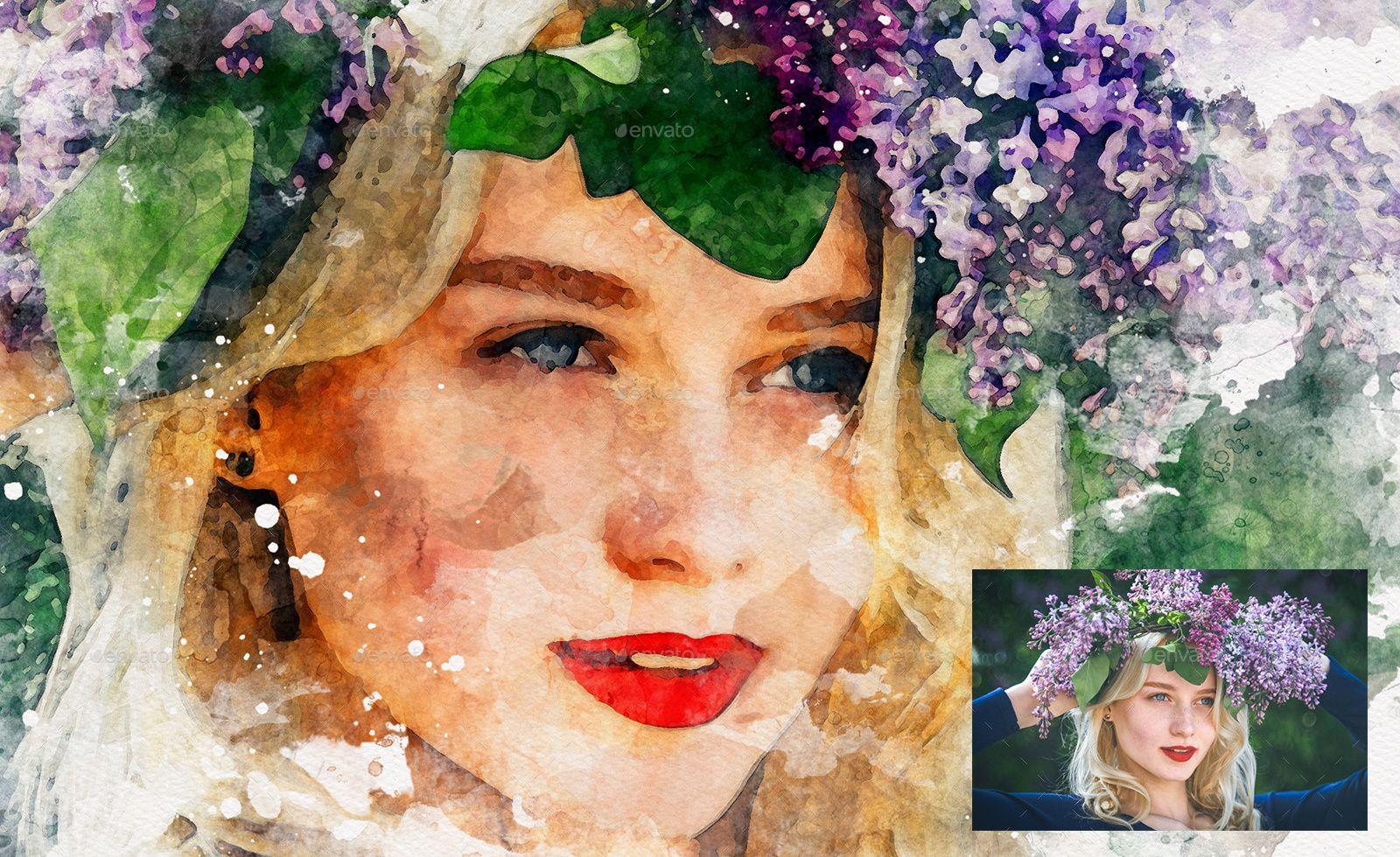 Amazing Watercolor Painting Art Photoshop Templates Mock Ups