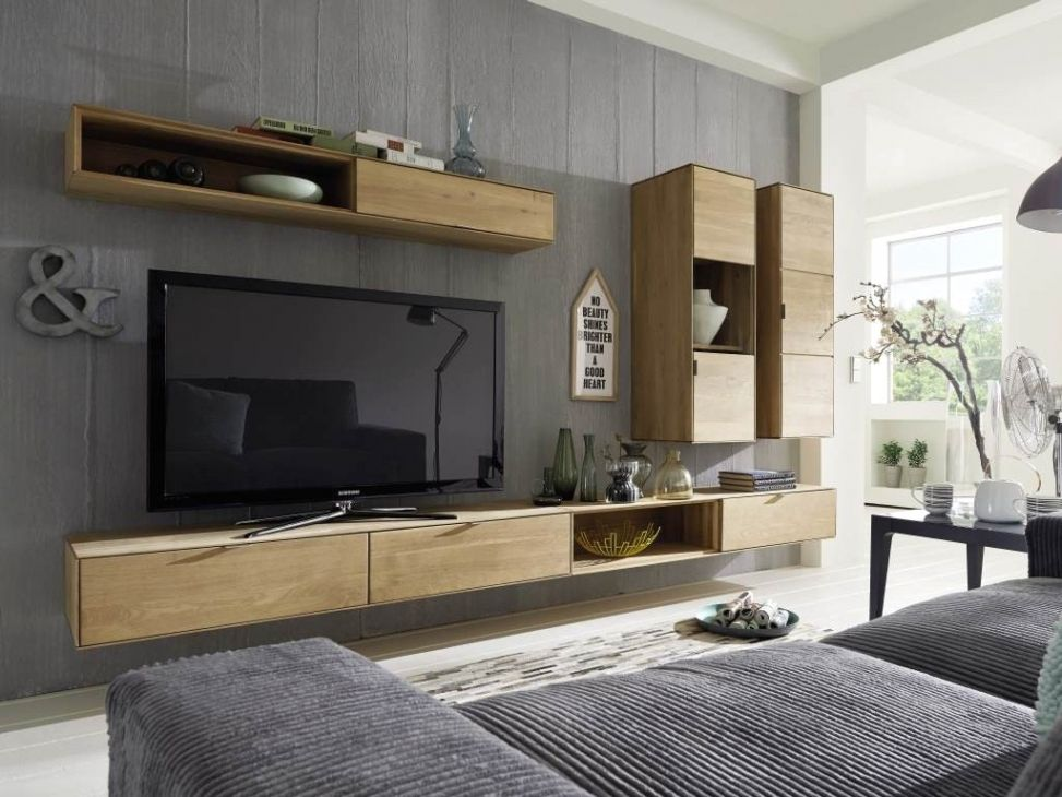 Wunderschone Wohnwand Modern Massiv Wohnwand In 2019 Tv Unit