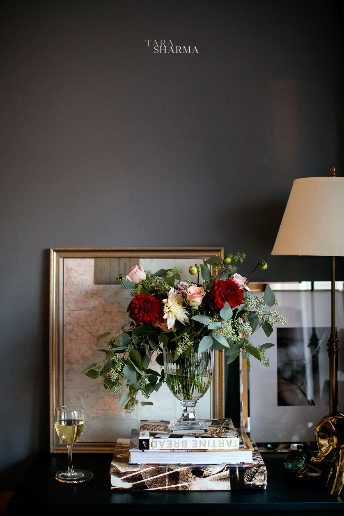 Styling Living Room Fall Flowers Flower Arranging Table Styling Living Room Gray