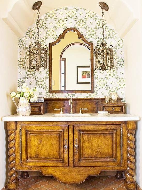 Simply Fabulous Spanish Style Bathrooms Spanish Bathroom Bathroom Styling