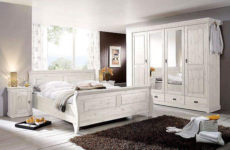 Landhaus Schlafzimmer Gestalten massivholz kiefer schlafzimmer weiss programm roland einrichten