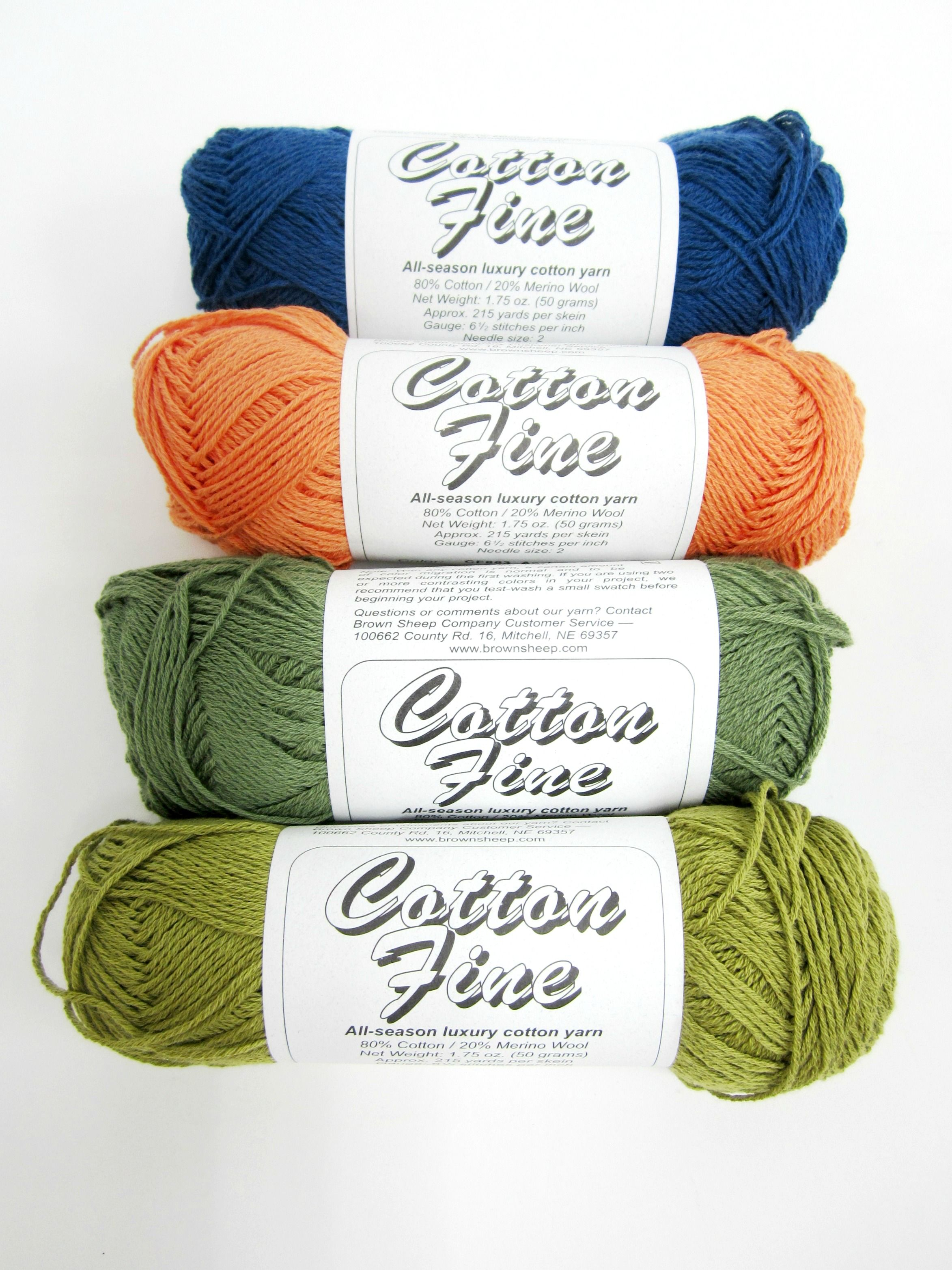 Enter to win Brown Sheep Cotton Fine Yarn. Giveaway compliments of ...