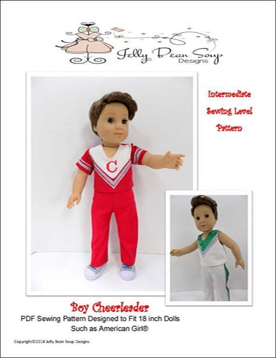 """Pixie Faire Jelly Bean Soup Designs Boy Cheerleader Doll Clothes Pattern Designed to Fit 18"""" Dolls such as American Girl® - PDF #18inchcheerleaderclothes Pixie Faire Jelly Bean Soup Designs Boy Cheerleader Doll Clothes Pattern for 18 inch American Girl Dolls - PDF #18inchcheerleaderclothes Pixie Faire Jelly Bean Soup Designs Boy Cheerleader Doll Clothes Pattern Designed to Fit 18"""" Dolls such as American Girl® - PDF #18inchcheerleaderclothes Pixie Faire Jelly Bean Soup Designs Boy Cheerlead #18inchcheerleaderclothes"""