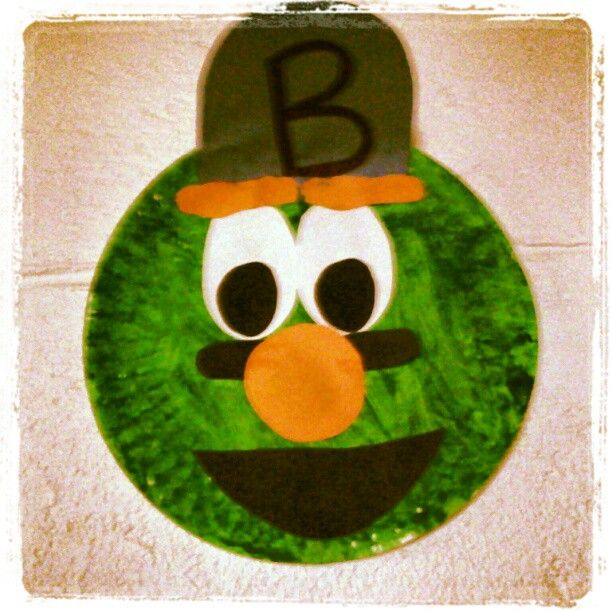 Wally The Boston Red Sox Green Monster We Finger Painted When