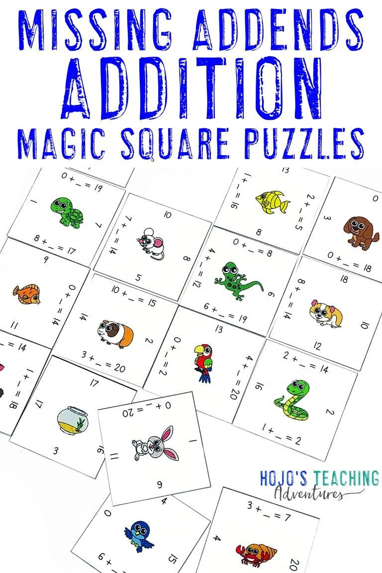 Addition Missing Addends To 20 Unknown Numbers In Equations Math Center Games Let Your 1st 2nd Grade Students Work On Math Center Games Math Centers Math Adding missing numbers ks1