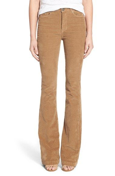 d1b9cfbd17 Paige Denim  Bell Canyon  High Rise Corduroy Flare Pants available at   Nordstrom