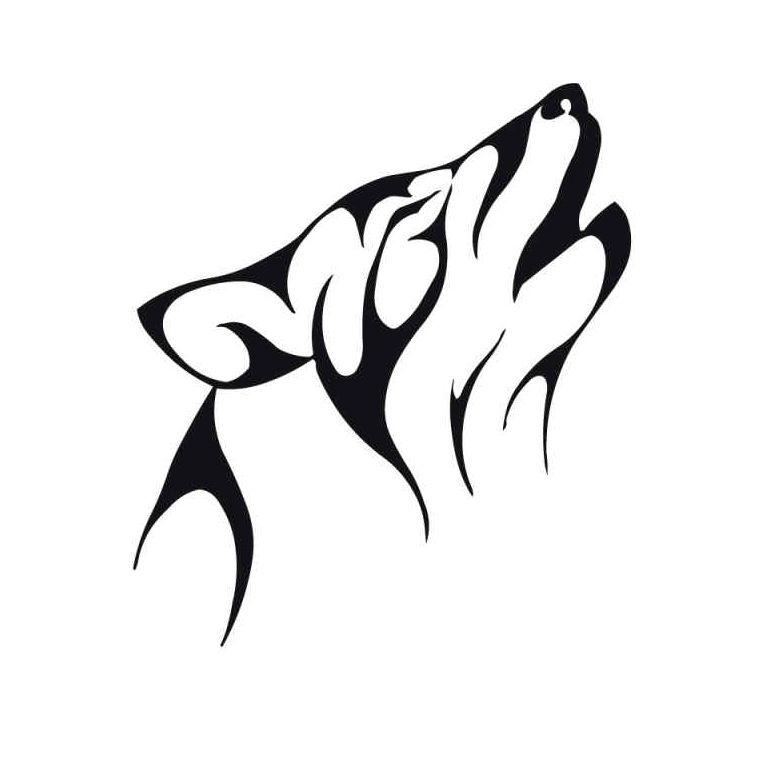 Design Art Cool Tribal Wolf Animal Tattoo Designs For Guys Tribal Wolf Tattoo Tribal Animal Tattoos Tribal Animals