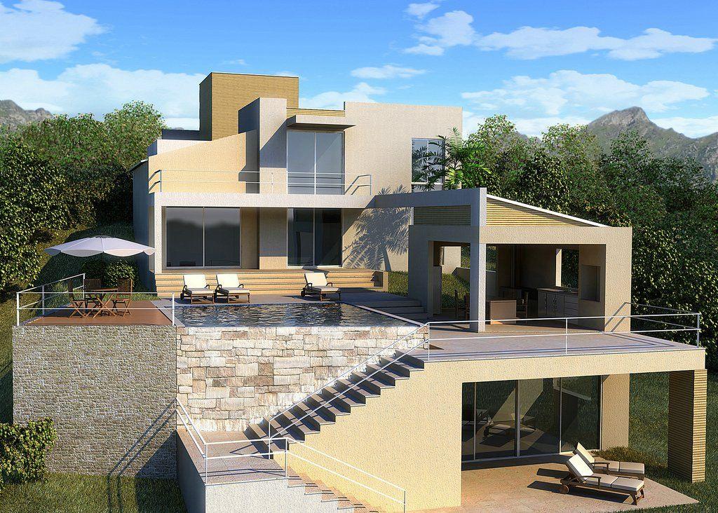 Con alberca casas casa minimalista terraza casa y casas for Casa minimalista con alberca