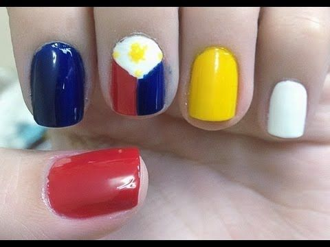 Philippine Flag Nail Art Tutorial Womens Clothing Fashion
