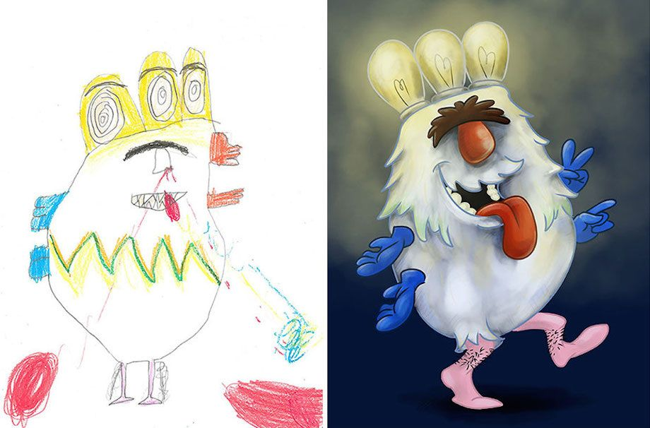 Monstrous Art Inspired By Children S Drawings 40 Hq Photos With