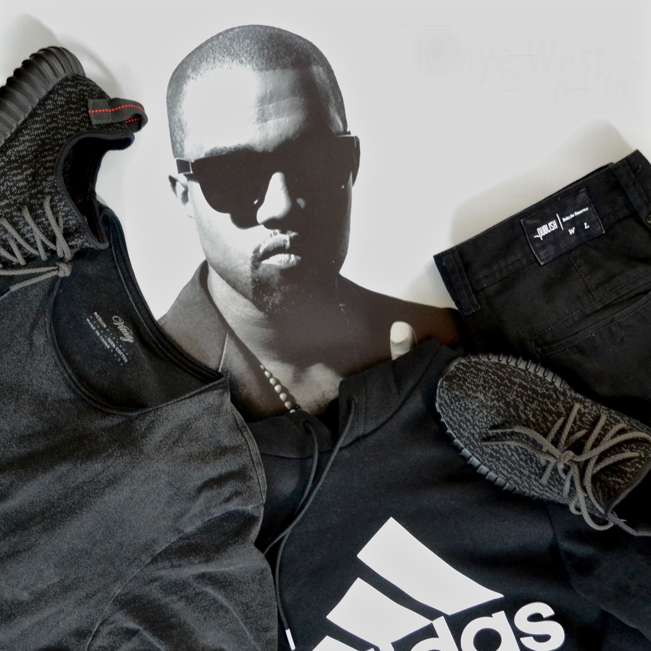c2b02fe402c252 ... Shirt ... adidas Yeezy 350 Boost Yeezy boost pirate black · Mr.West is  ...
